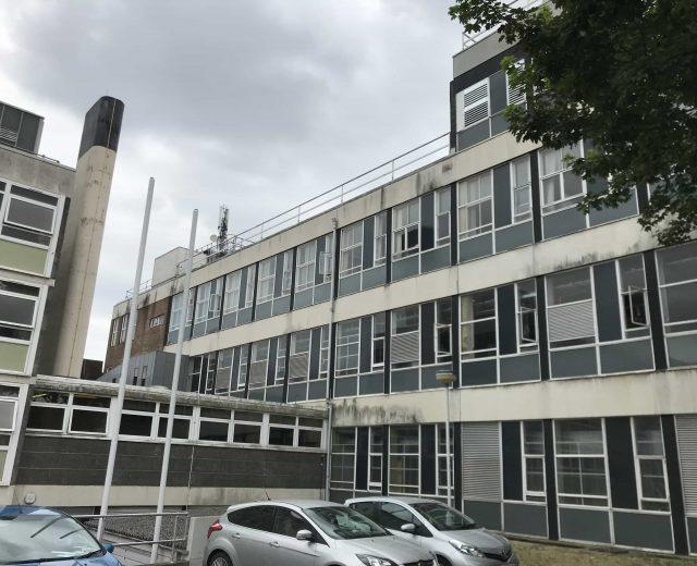 Elevation of BT building in Basingstoke