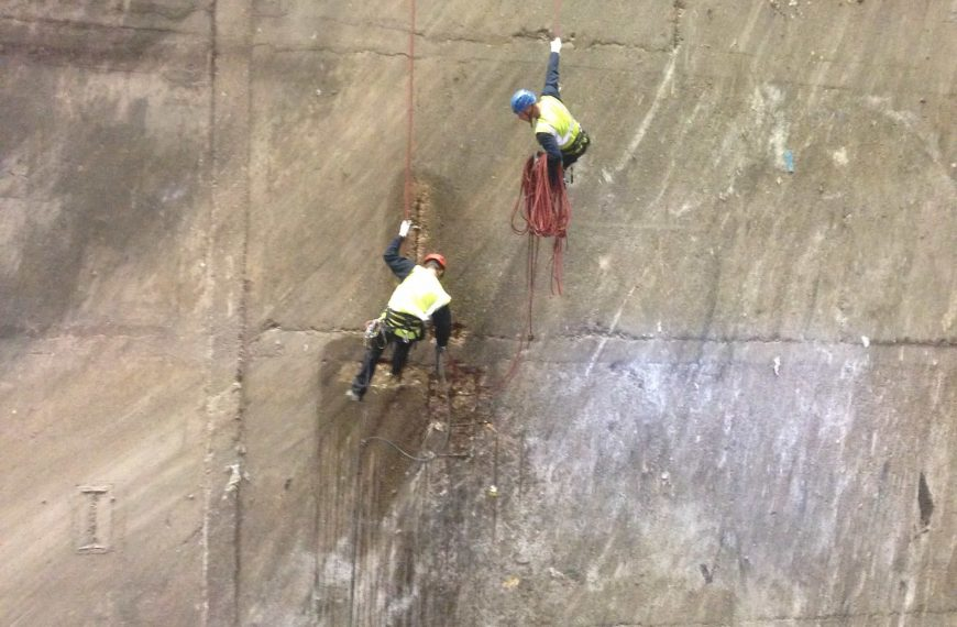 Surveyors abseiling at CSWDC